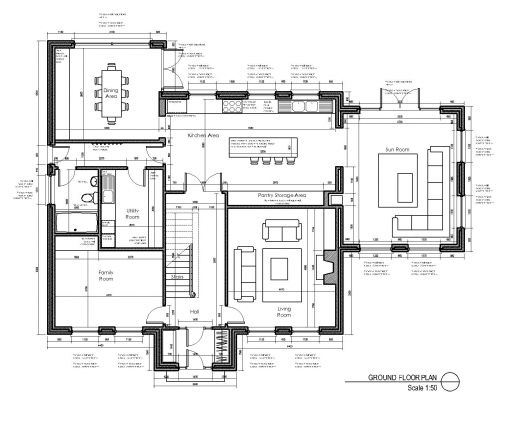House layout design oranmore co galway for Layout design for house